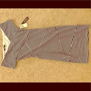 XOXO black/white striped off shoulder dress
